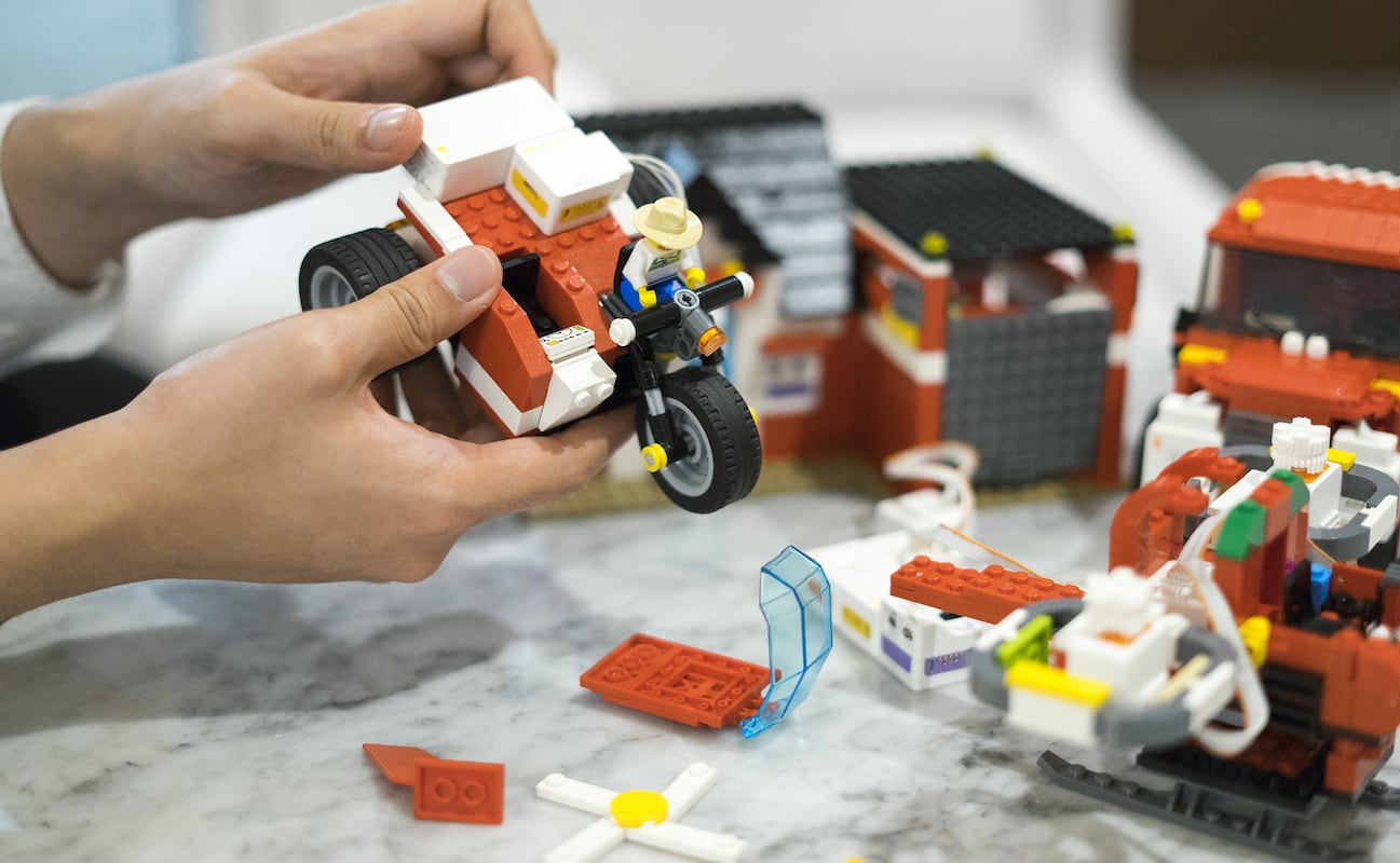 MODI Makers Kit DIY Animation Toys let you bring your brick toys to life