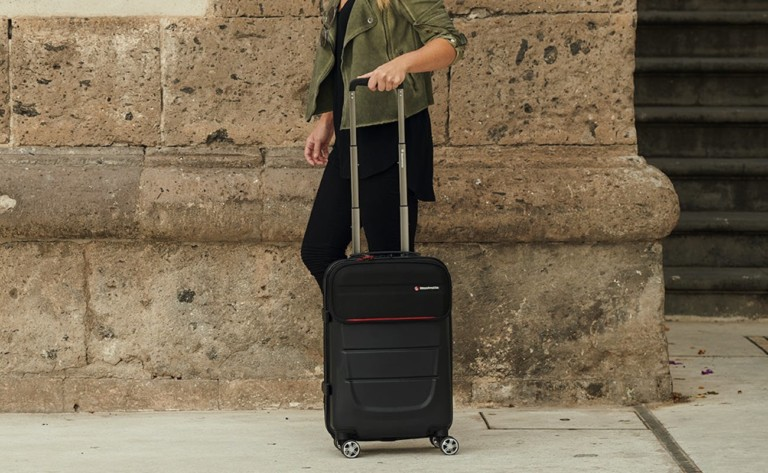 Manfrotto Pro Light Reloader Spin-55 Camera Roller Bag is a durable bag for traveling photographers