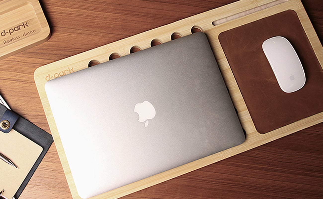 Natural Bamboo Laptop Stand for MacBook lets you work from your bed