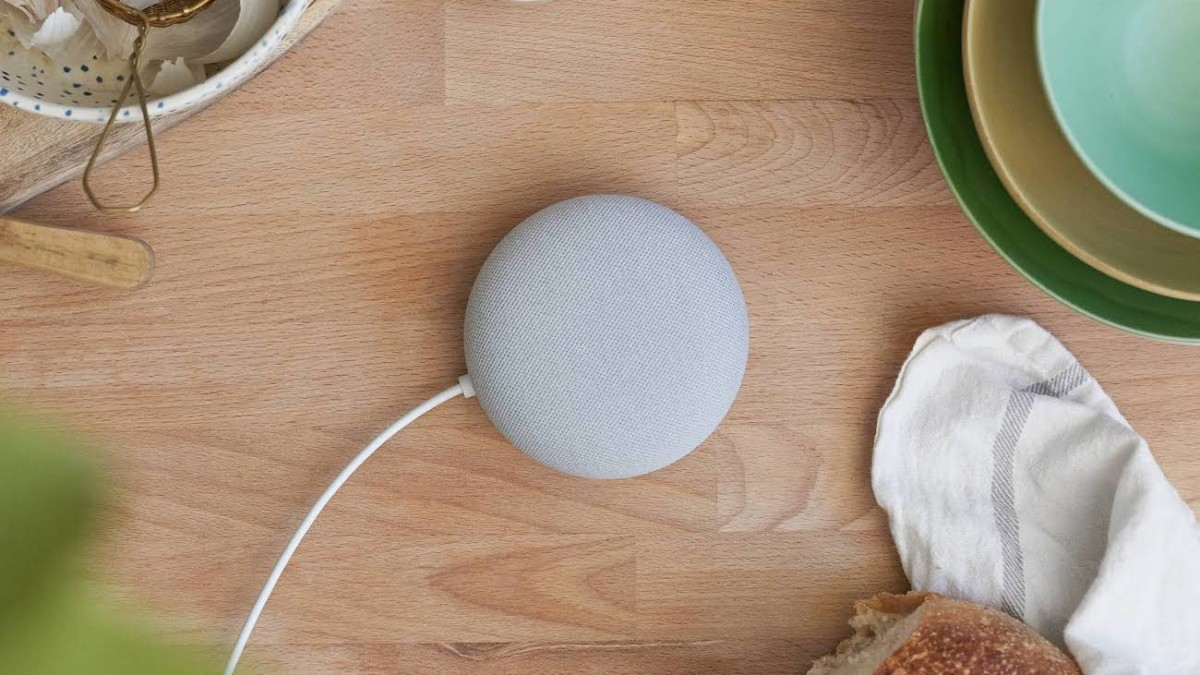 Nest Mini Smart Speaker is built with a wall mount so you can put it anywhere