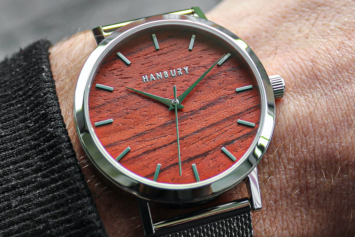 Handcrafted Automatic Watch by Hanbury offers a truly unique design