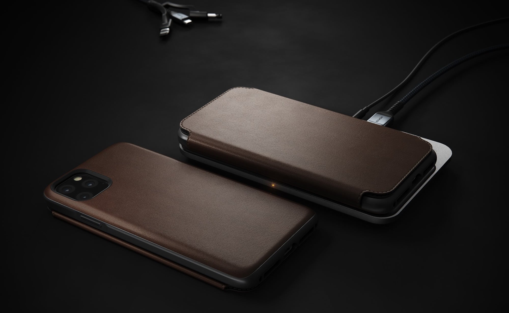 Nomad Rugged Folio Horween Leather iPhone 11 Pro Max Case offers all-angle drop protection