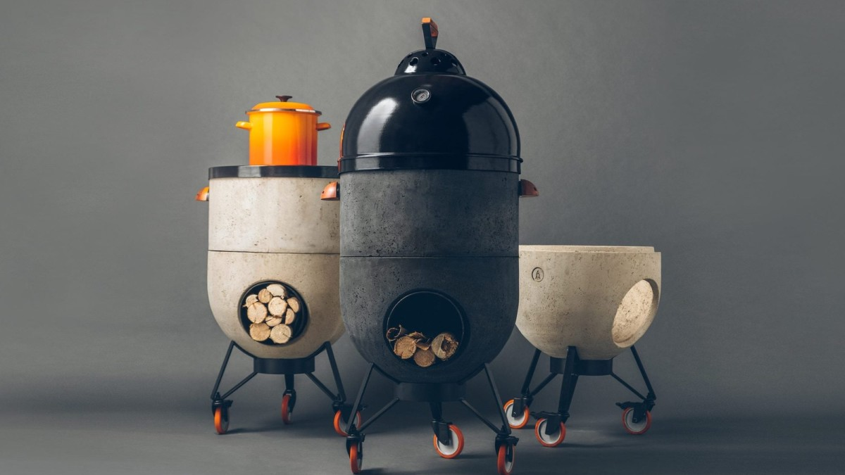 Noori V01 Modular Wood and Charcoal Burner is a pizza oven and grill in one