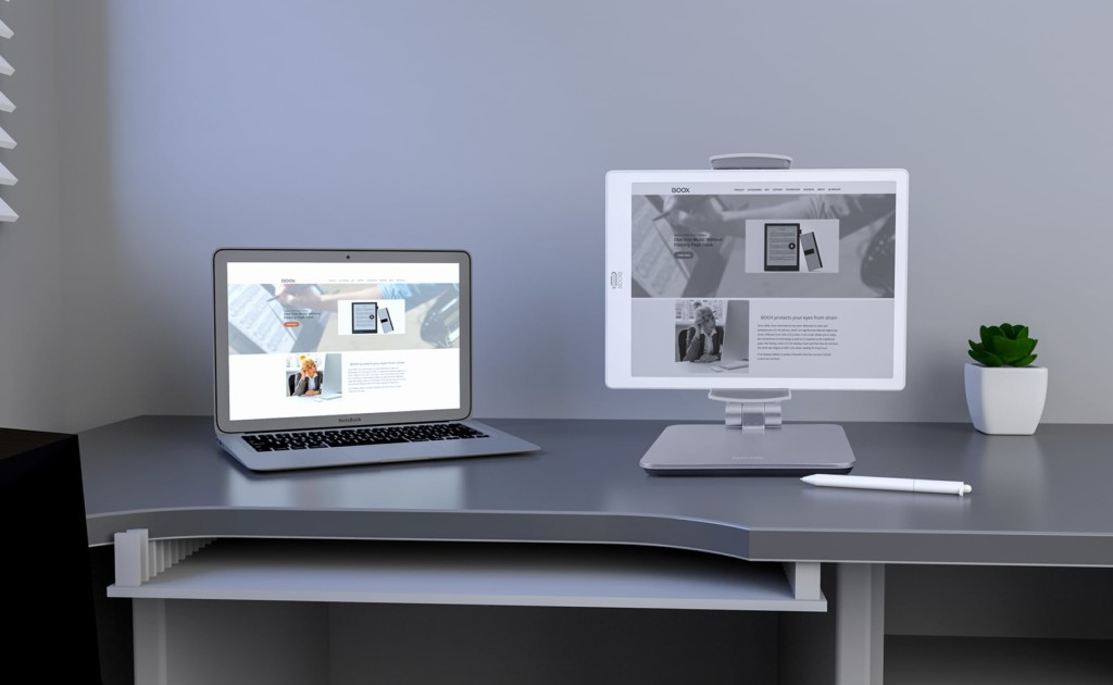 paper-like e-reader as a secondary monitor
