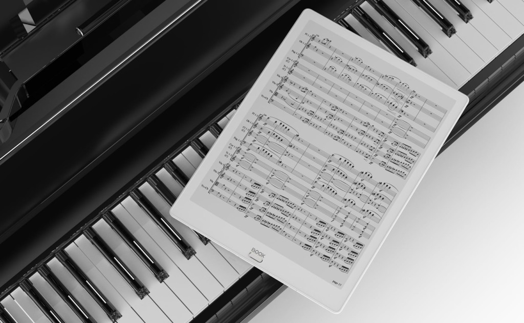 paper-like e-reader for music