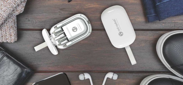The Red Radish compact charging set is great on the go