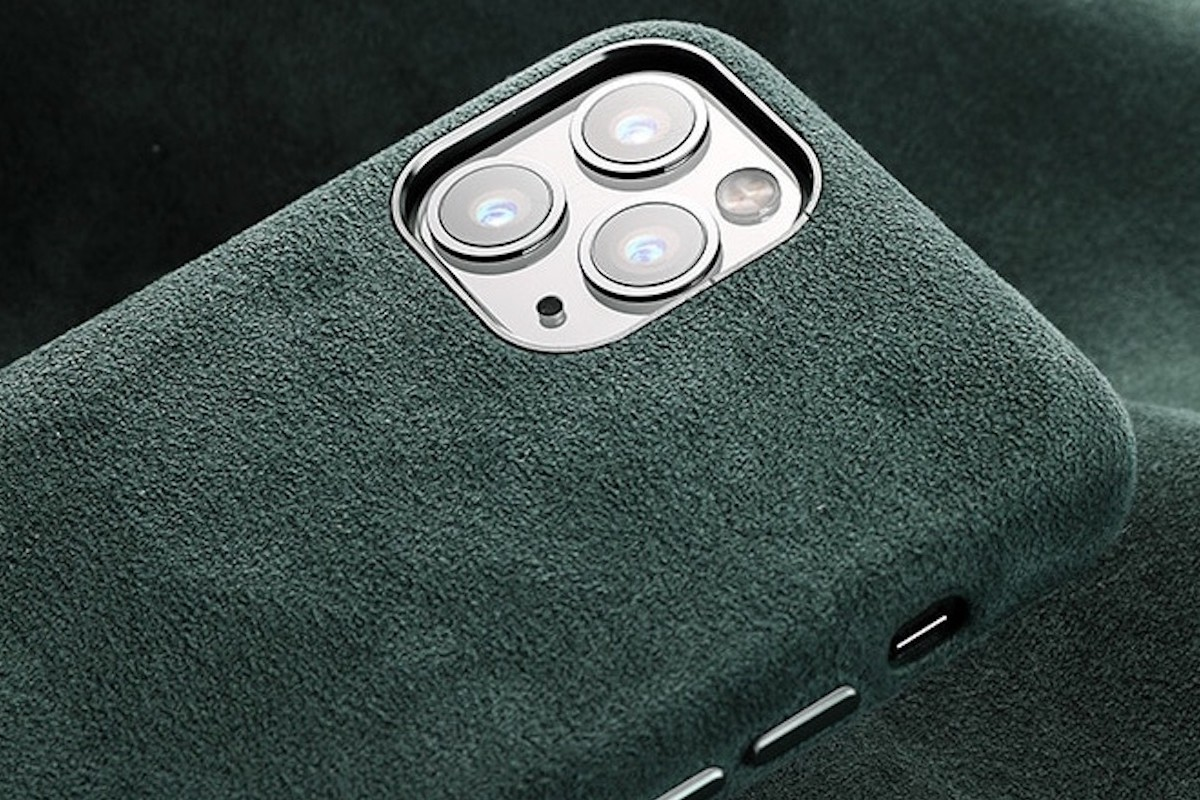 Soft Suede Leather iPhone 11 Pro Max Case provides grip and style