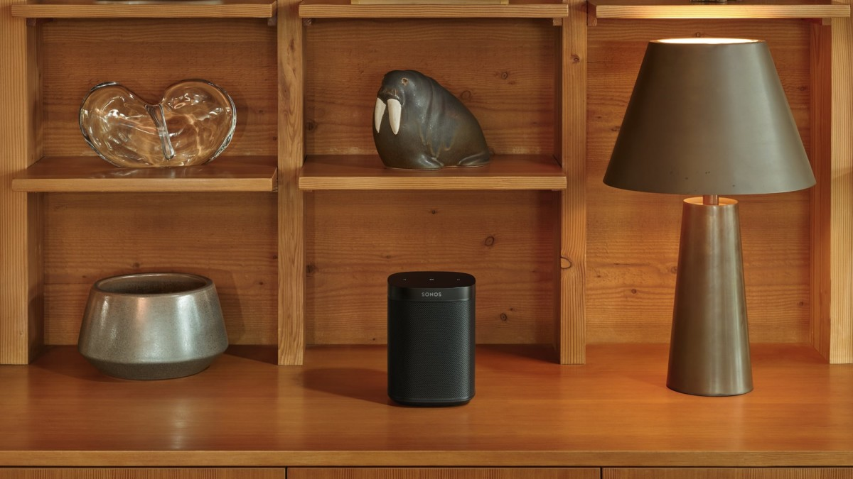 Sonos One SL Microphone-Free Speaker is compact enough to fit in any room