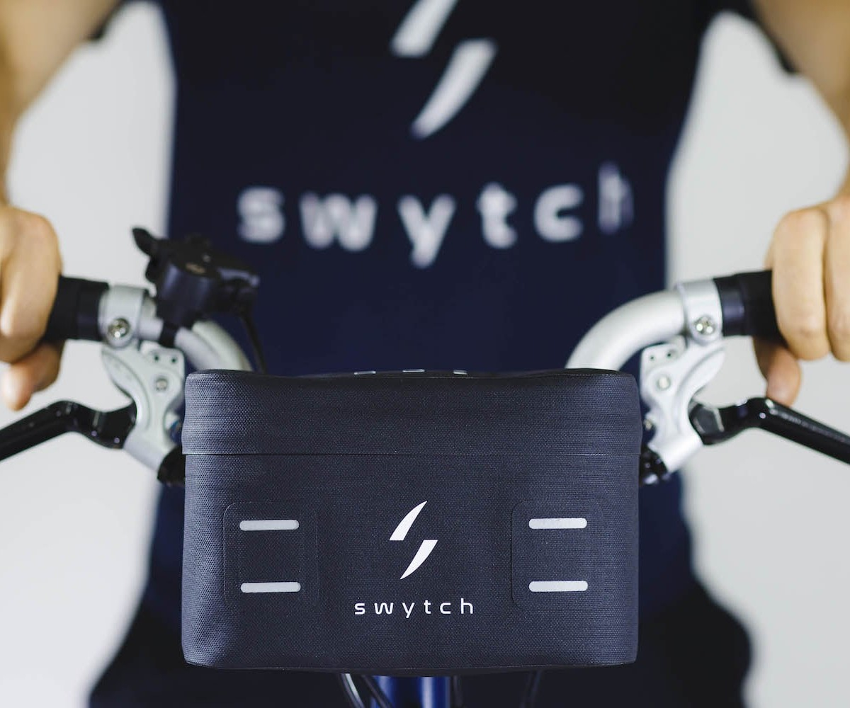 Swytch eBike Conversion Kit is a compact, lightweight electric bicycle conversion setup for any bike