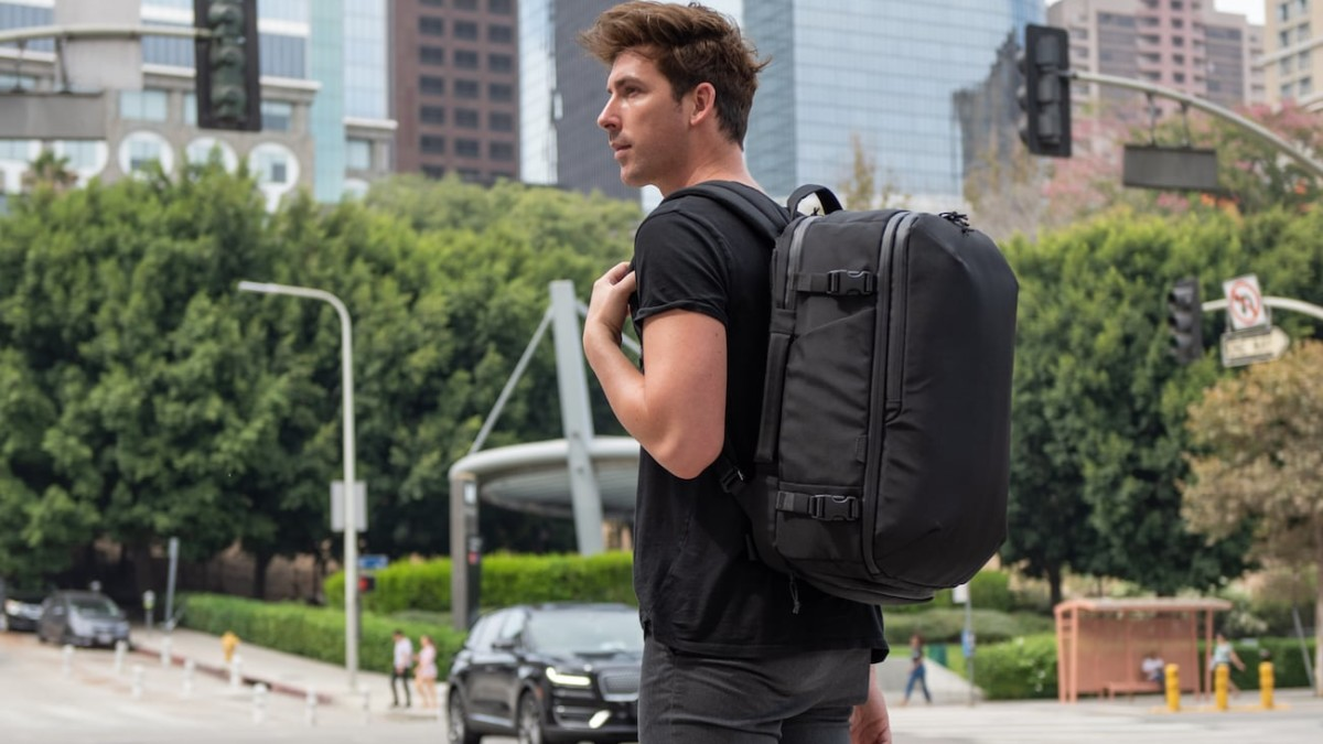 TRMNL Travel Pack Carry-On Backpack durably supports your on-the-go life