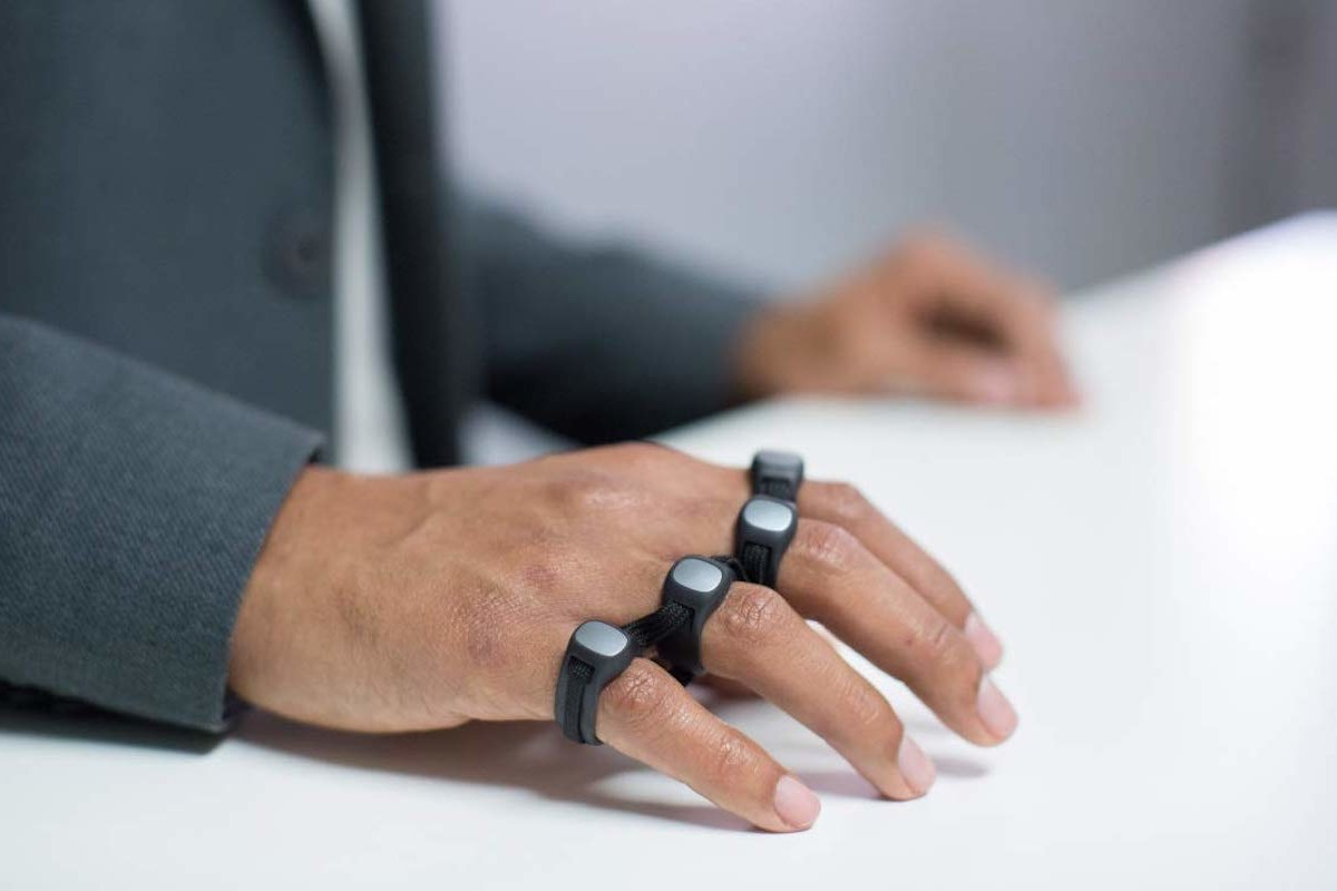 Tap Strap 2 Wearable Peripheral Controller is a gesture-controlled keyboard and mouse