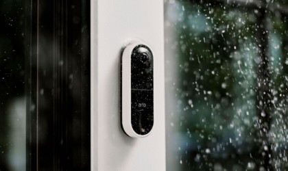 Arlo doorbell camera in the rain