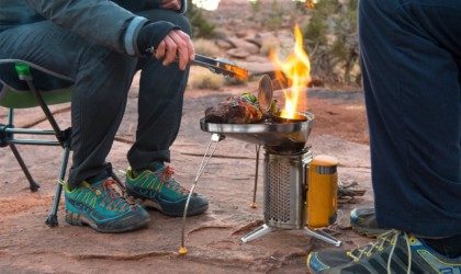 Cooking on the Biolite CampStove 2
