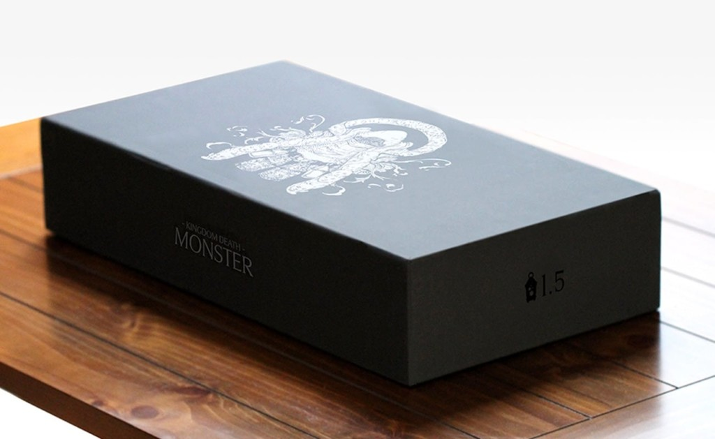 Kingdom Death: Monster 1.5 comes with a sleek, well-designed box