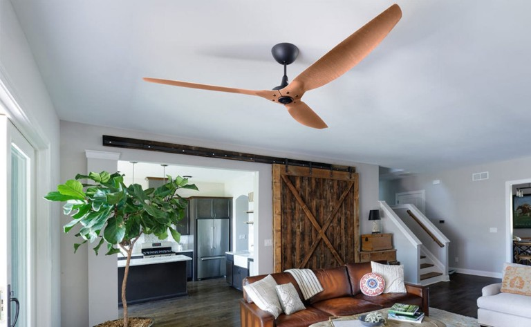 Haiku Smart Ceiling fan turns on automatically to cool your home down