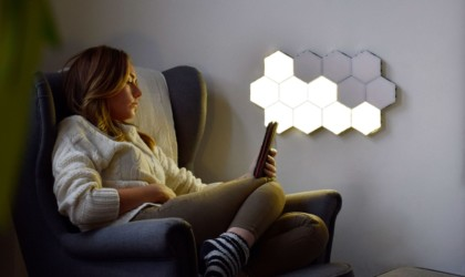 Helios Touch hexagonal panels in a cloud shape
