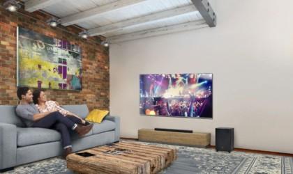 JBL soundbar in a room
