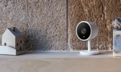Nest Cam IQ on a shelf