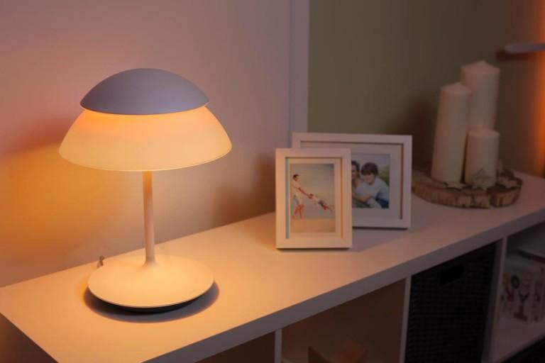 Philips Hue dimly lit on desk