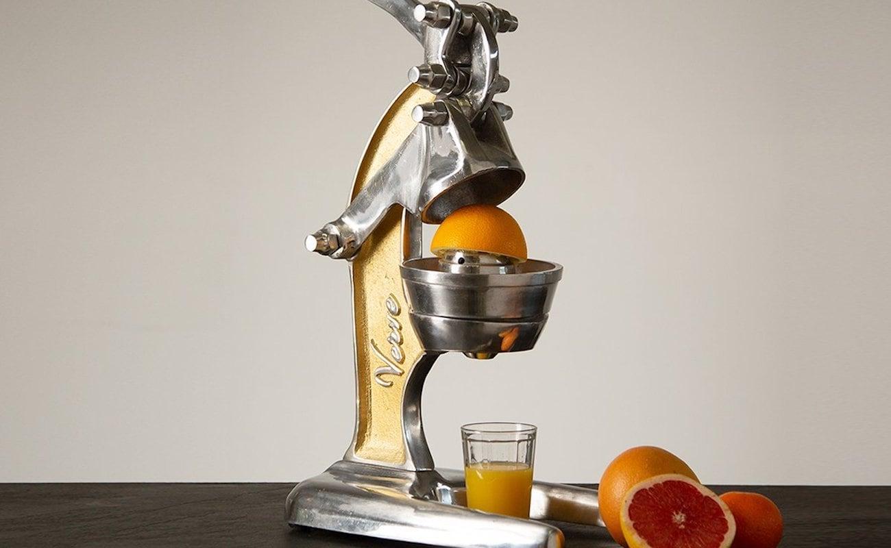 Verve Culture Artisan Manual Citrus Juicer obtains every last drop of juice