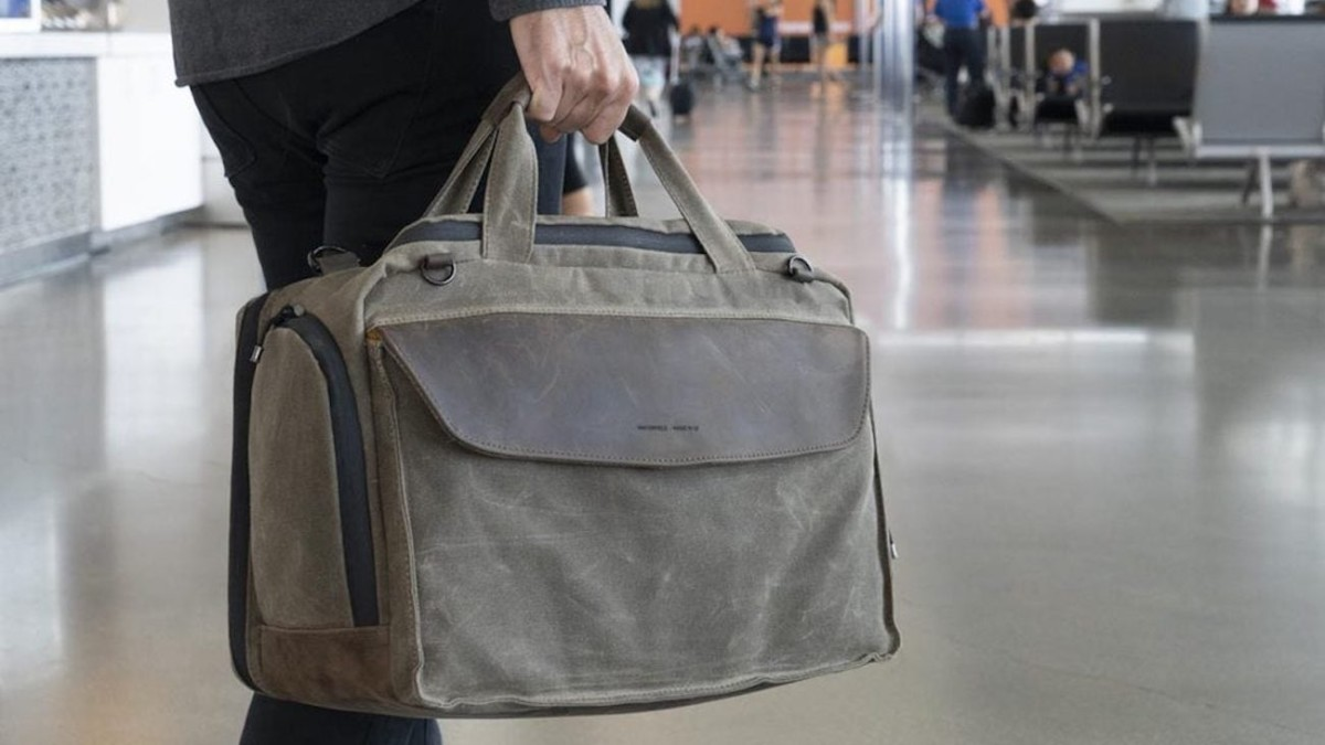 WaterField Designs Air Duffel Personal Carry-On Bag maximizes your in-cabin space