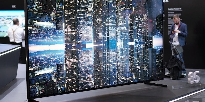 How an 8K TV looks on display at CES 2019