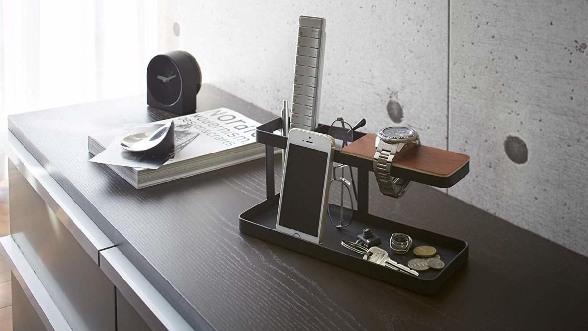 Yamazaki Tower Deskbar Office Organizer declutters your space in minimalist style