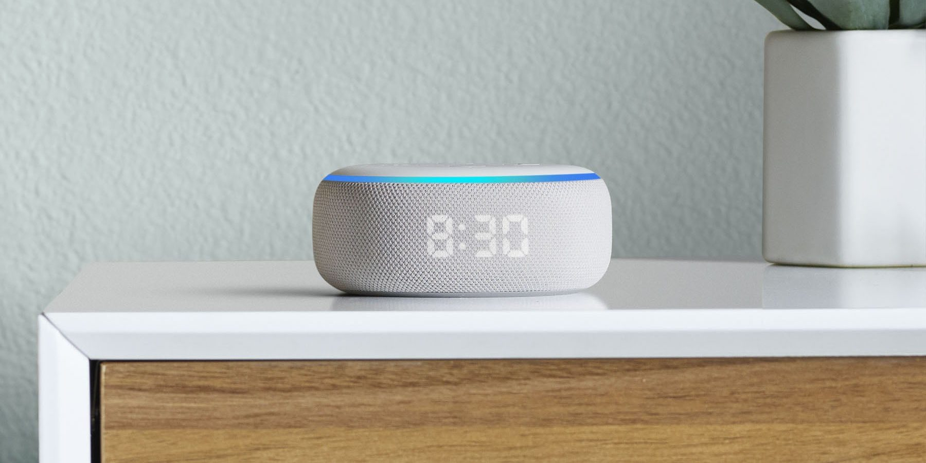 smart gadgets - Amazon Echo Dot with Clock
