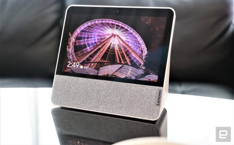 smart gadgets - Lenovo Smart Display 7 Google Assistant Hub