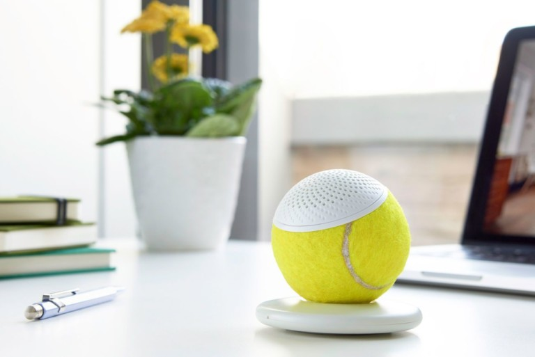 weird gadgets - hearO Wimbledon Tennis Ball Speaker 2