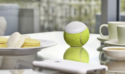 weird gadgets - hearO Wimbledon Tennis Ball Speaker