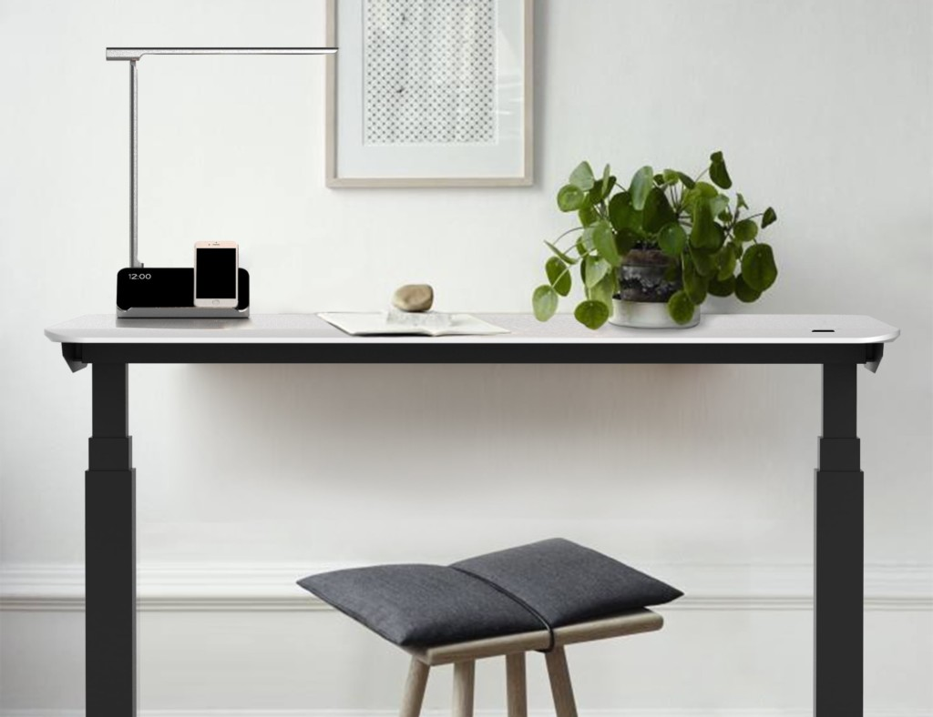 Minimalist smart desk with stool