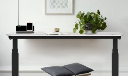 Minimalist smart desk with stool
