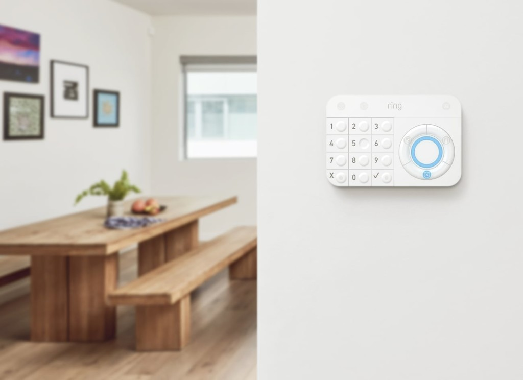 Ring Alarm base station on a wall