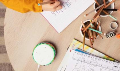 Amazon Echo Dot Kids Edition Rainbow Smart Speaker