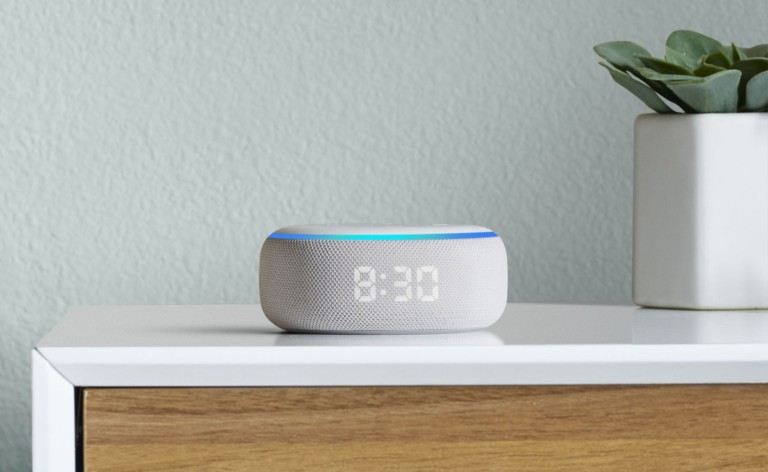 Amazon Echo Dot with Clock Smart Alarm