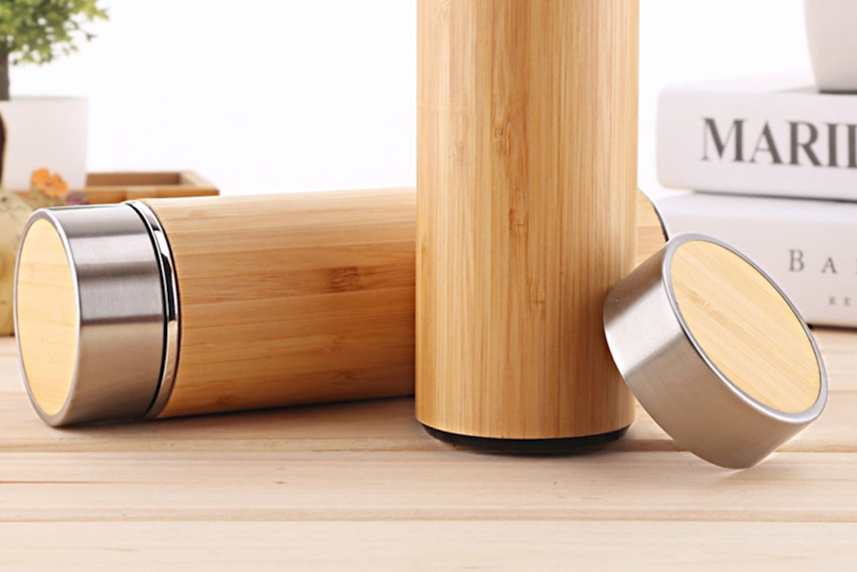 Bamboo Vacuum-Sealed Thermal Mug keeps your tea nice and hot