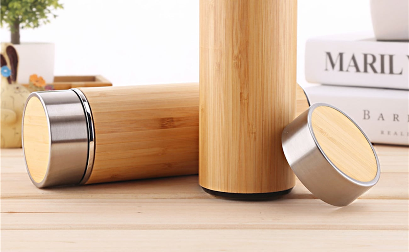 Bamboo Vacuum-Sealed Thermal Mug keeps your tea nice and hot