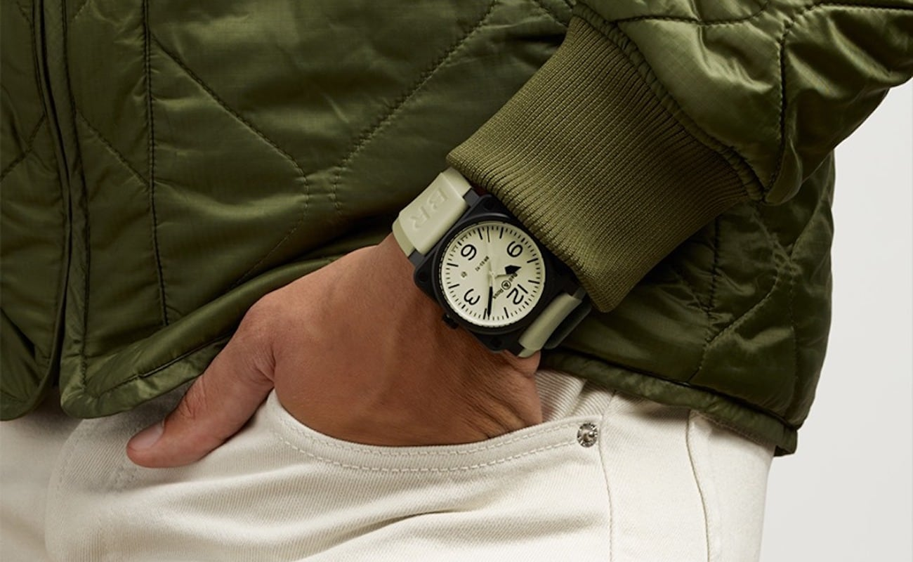 Bell & Ross BR 03-92 FULL LUM Luminescent Timepiece completely lights up for readability