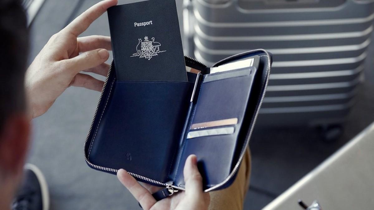 Bellroy Travel Folio Leather Passport Holder organizes all your travel essentials