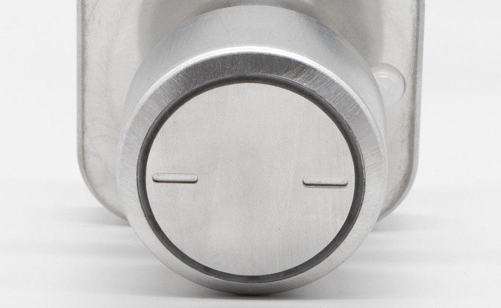 Bright Light doorknob front view in sleep mode