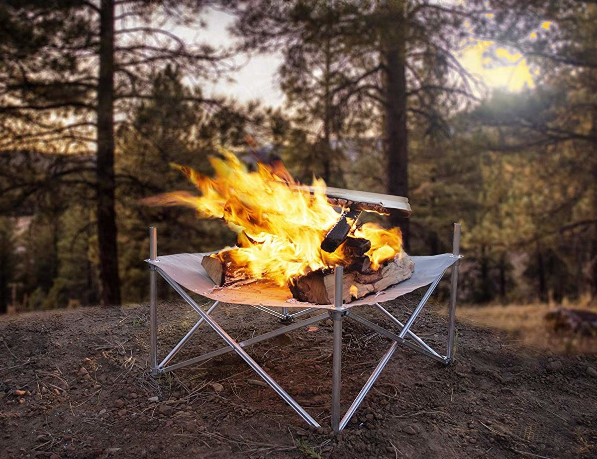 Campfire Defender Pop-Up Fire Pit ensures you leave no trace in the wilderness
