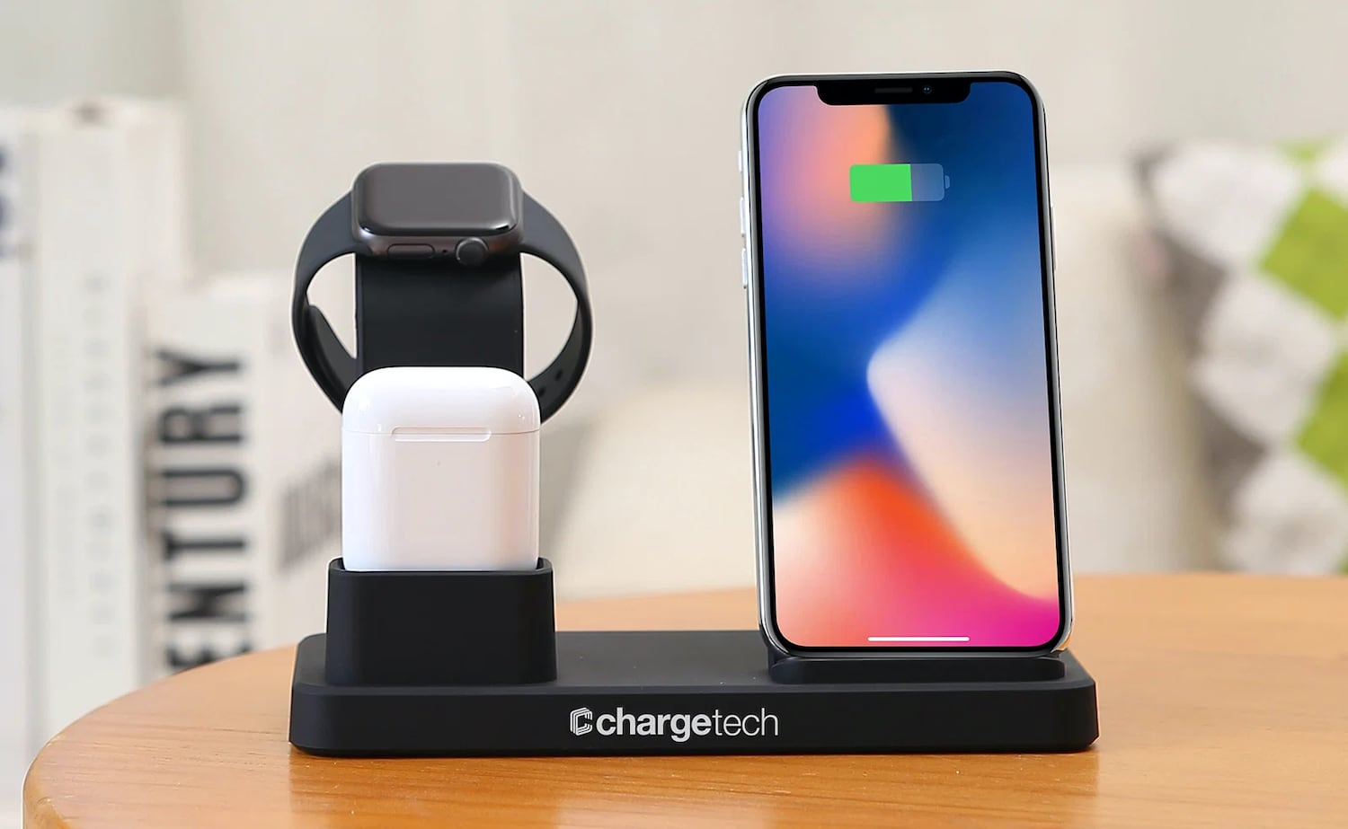 ChargeTech 3-in-1 Wireless Charger Multi-Device Hub fast charges with 10W of power