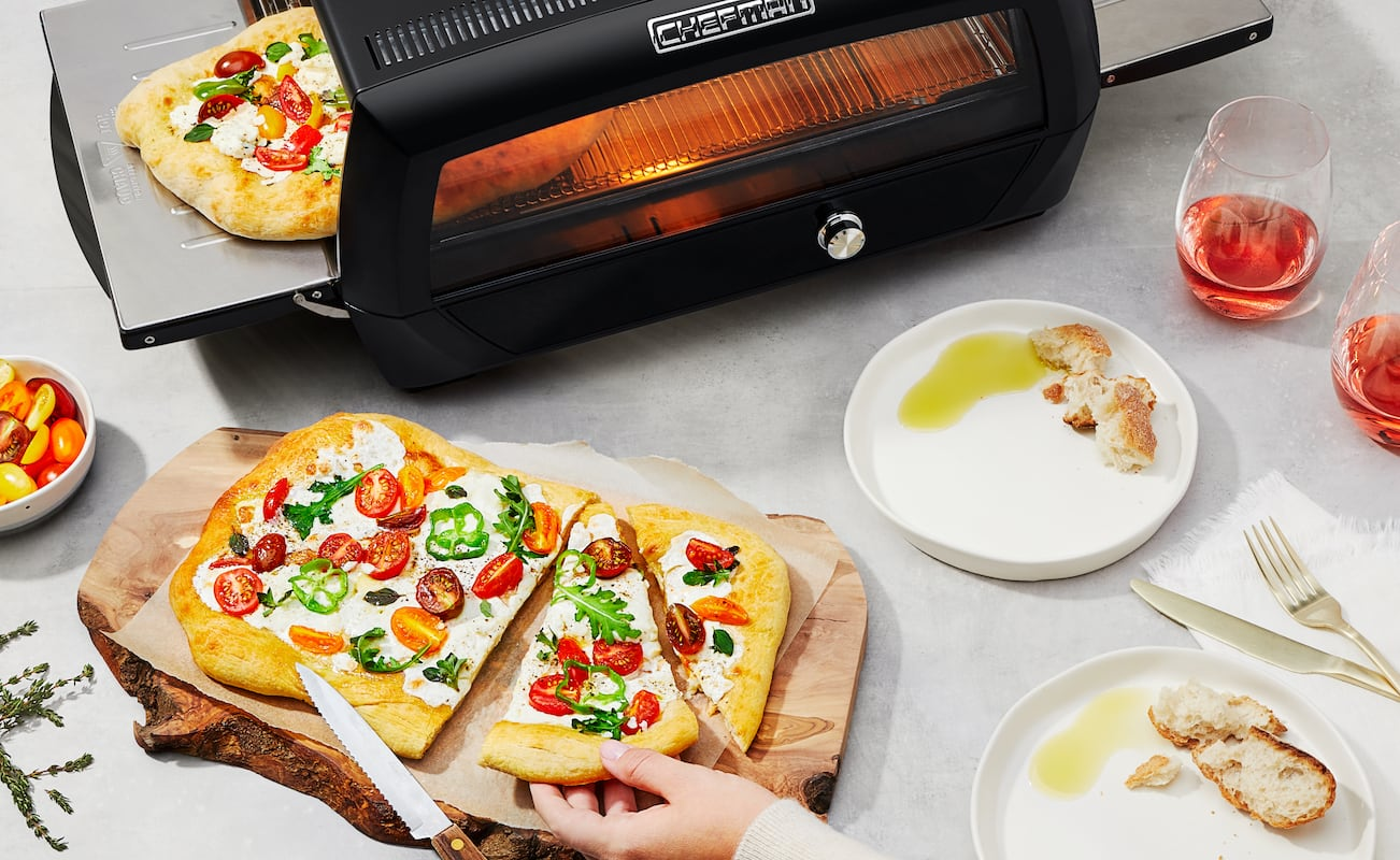 Chefman Food Mover Conveyor Belt Toaster Oven gives you a front-row seat to your cooking food