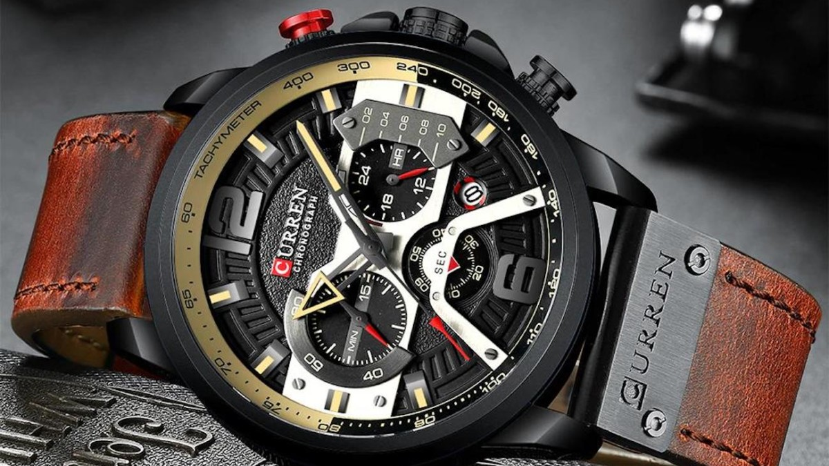 Curren Casual Chronograph Sports Watch is equal parts durable and beautiful