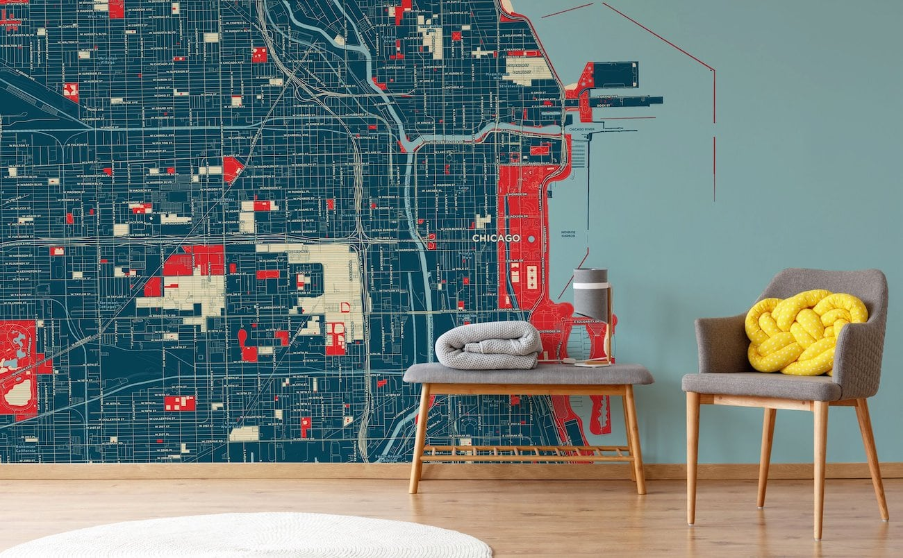 Customaps Customizable Map Decor features detailed posters and wallpaper