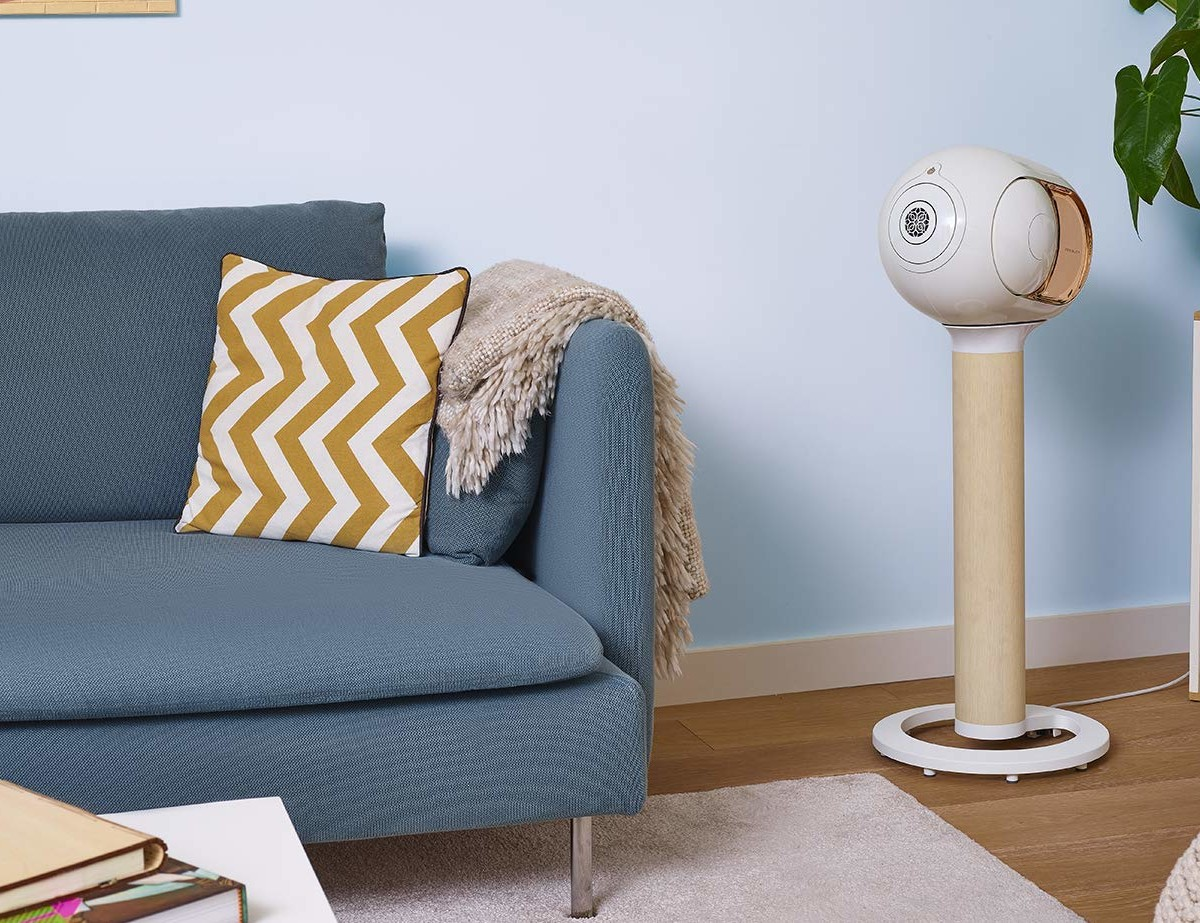 Devialet Tree Phantom Speaker Stand beautifully displays your speaker for ideal sound projection