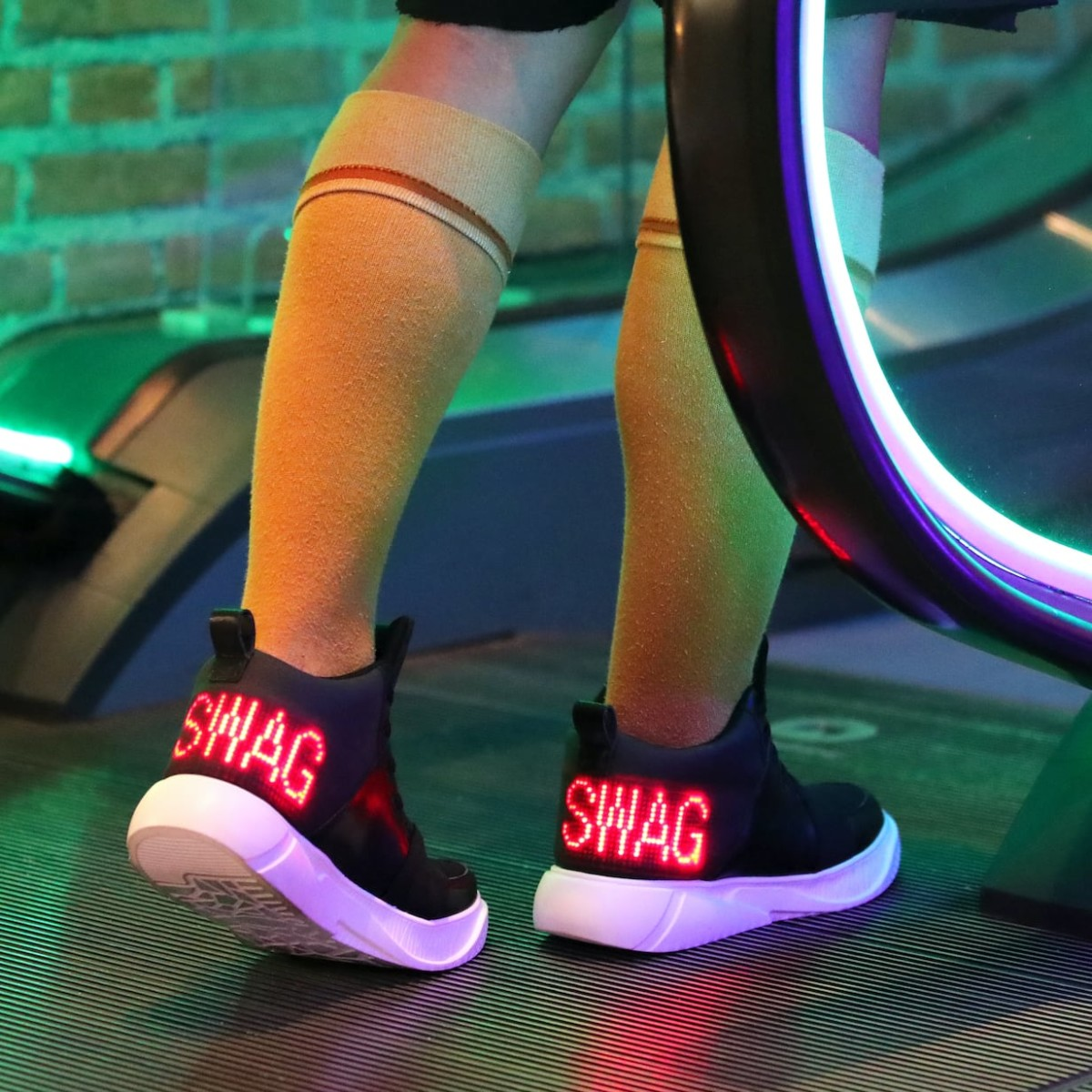E-Sneakers by Evolux Customizable LED Shoes display any message of your choosing