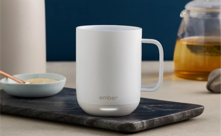 Ember Mug 2 Temperature-Controlled Cup maintains your drink's temperature for 1.5 hours