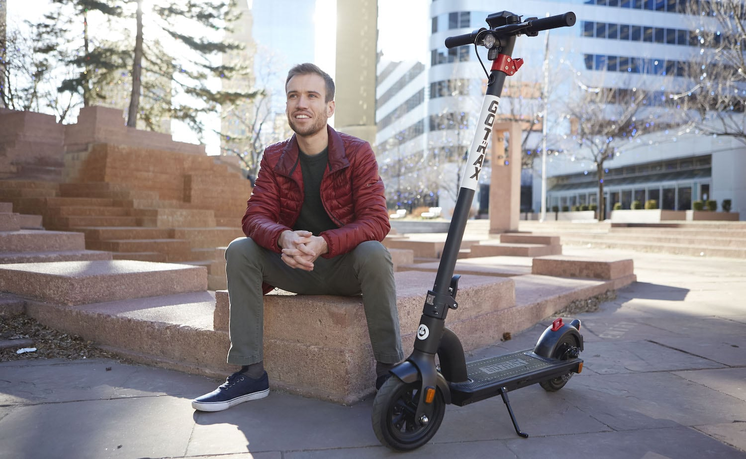 GOTRAX Xr Ultra Foldable Electric Scooter lets you ride at 15.5 miles per hour